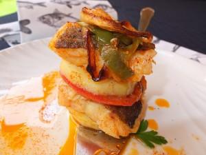 entre capas de bacalao y verduras bzf