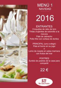 celebra en Bar Zona Franca menu 1