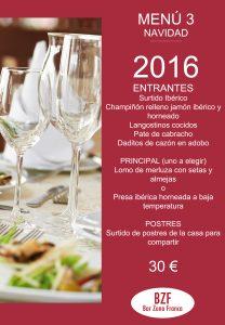 menu 3 navidad bar zona franca