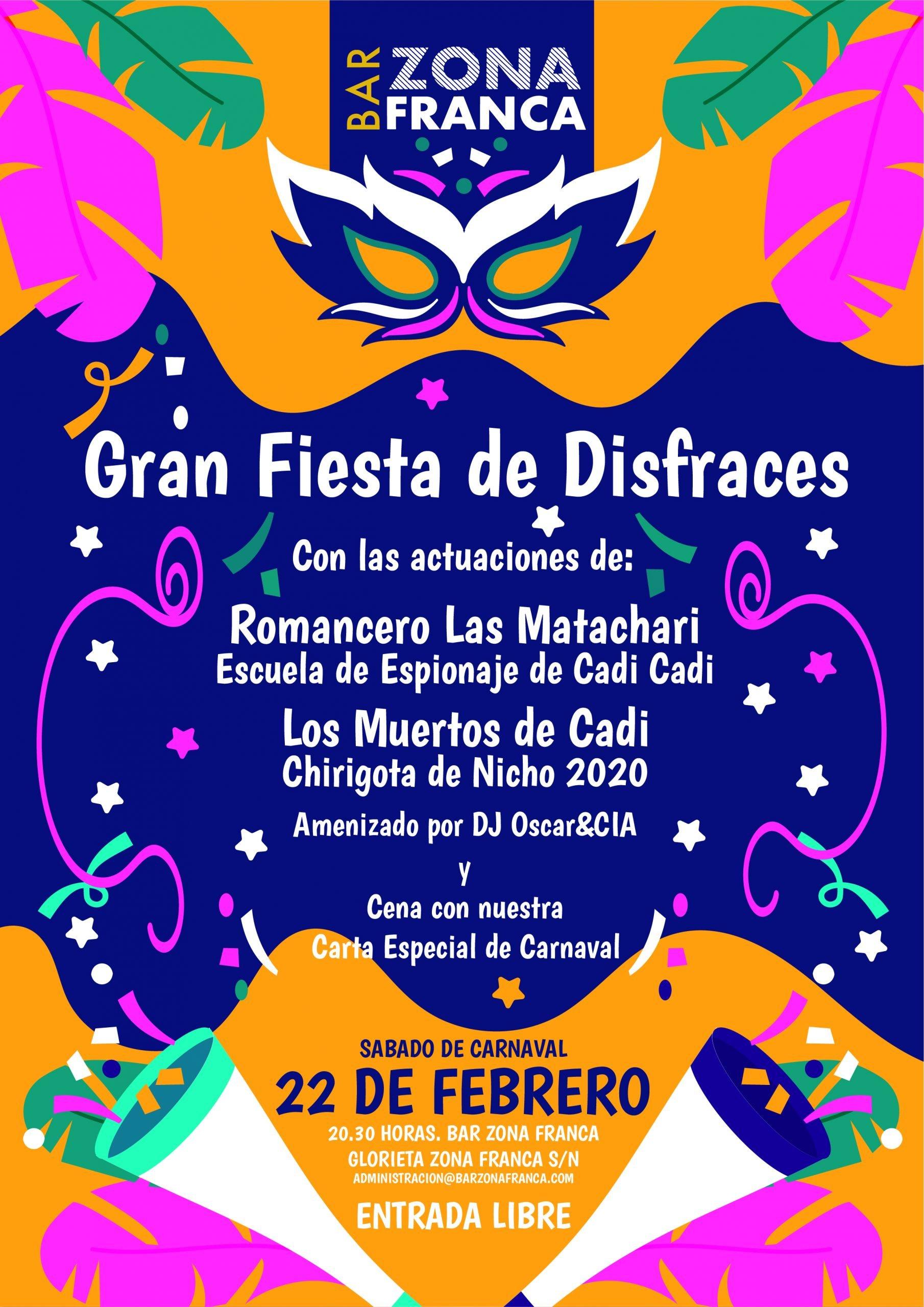 Fiesta de disfraces. Carnaval 2020